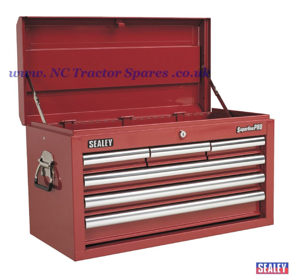 Topchest 6 Drawer with Ball Bearing Runners - Red